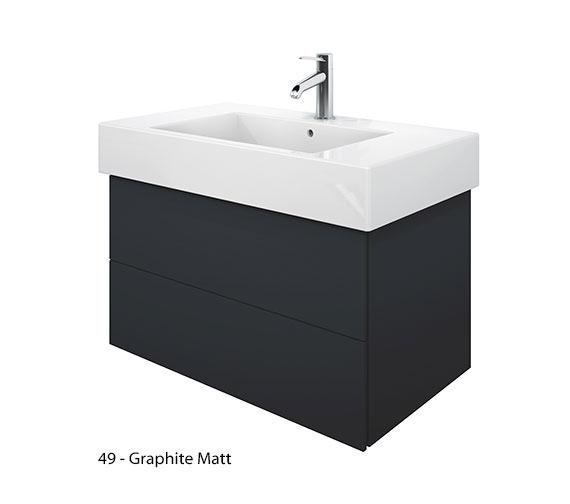 Alternate image of Duravit Delos 2 Drawers White Matt Unit With Vero 850mm Basin