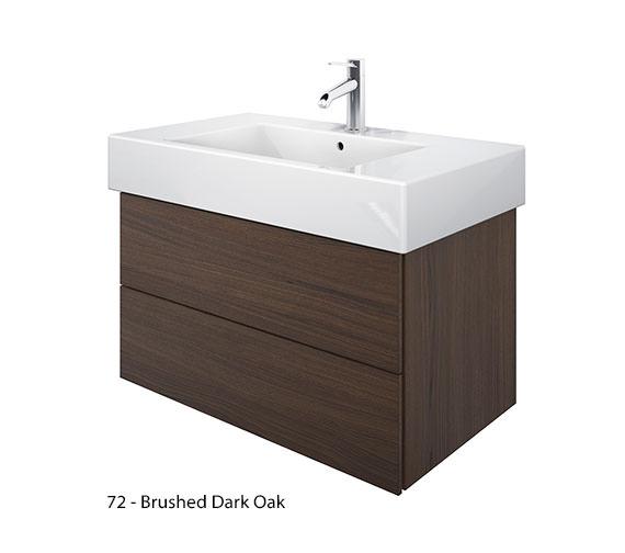 Alternate image of Duravit Delos 2 Drawers Brushed Oak Unit With Vero 850mm Basin