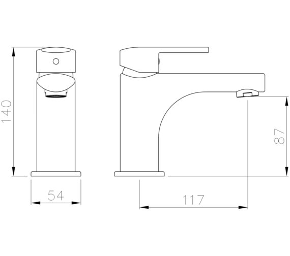 Technical drawing QS-V8572 / AB4140