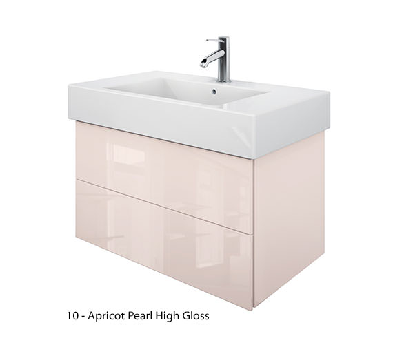 Additional image of Duravit Delos 2 Drawers Jade High Gloss Unit With Vero 850mm Basin
