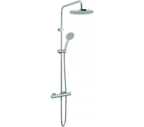 Vado Velo Round Thermostatic Shower Valve With Rigid Riser Kit