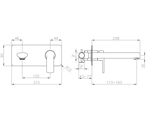 Technical drawing QS-V8574 / AB4142