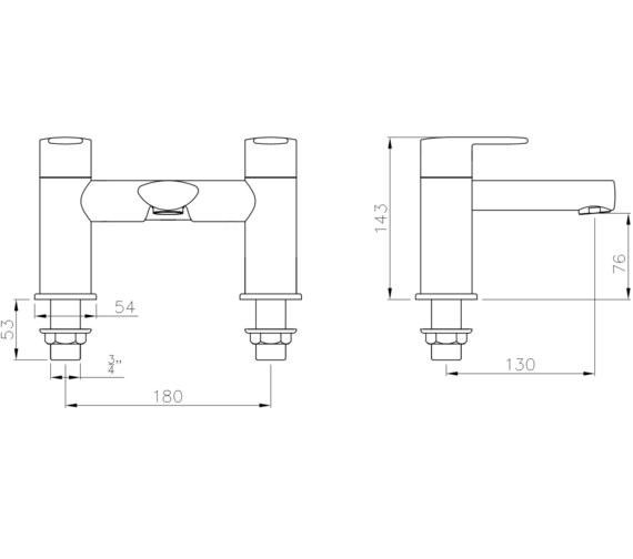 Technical drawing QS-V8575 / AB4143