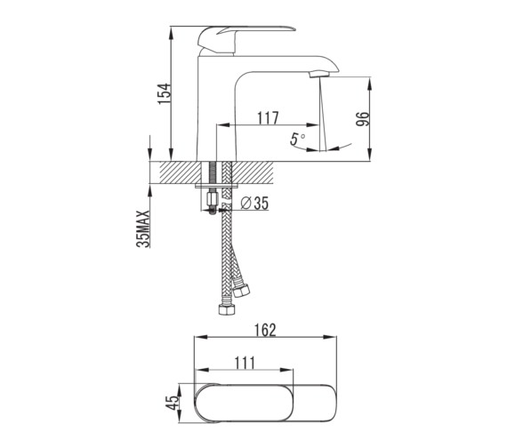 Technical drawing QS-V81414 / DG009