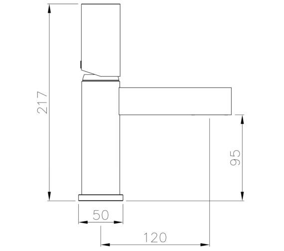 Technical drawing QS-V8589 / AB4193