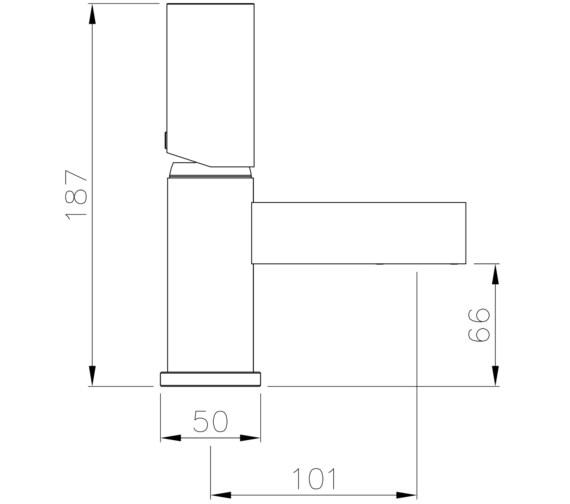 Technical drawing QS-V8590 / AB4194