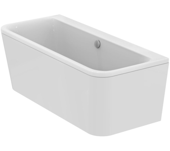 Ideal Standard Tonic II Peninsular IFP D-Shape 1700mm Bath With Normal Waste