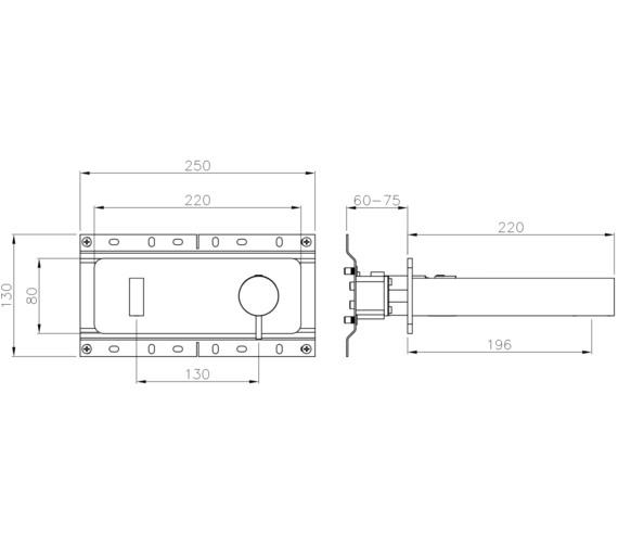 Technical drawing QS-V8592 / AB4196