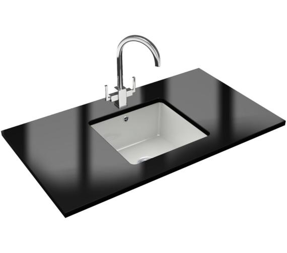Franke Kubus Designer Pack KBK 110 40 Ceramic Kitchen Sink And Tap