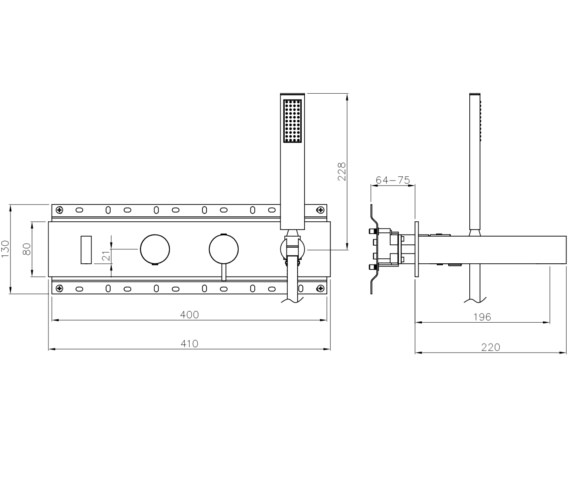 Technical drawing QS-V8585 / AB4176