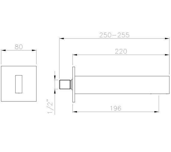 Technical drawing QS-V8586 / AB4177