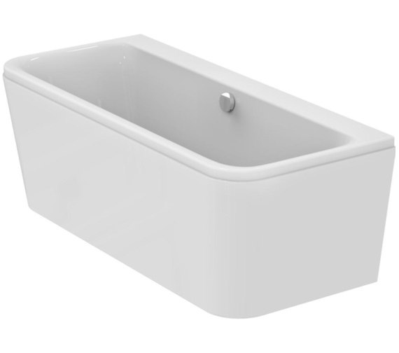 Ideal Standard Tonic II Peninsular IF D-Shape 1700mm Bath With Filler Waste