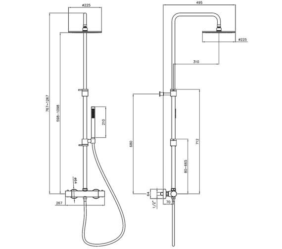 Technical drawing QS-V8587 / AB4190