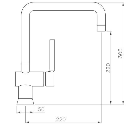 Technical drawing QS-V8596 / AT1056