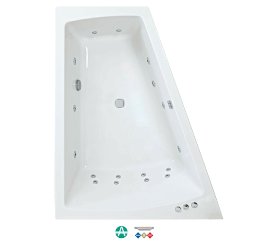 Phoenix Figura Amanzonite 1700x1300mm Left Handed Whirpool Bath With Panel
