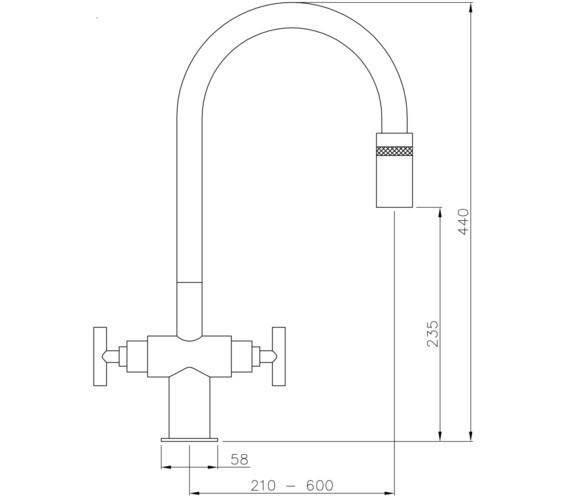 Technical drawing QS-V8597 / AT1059