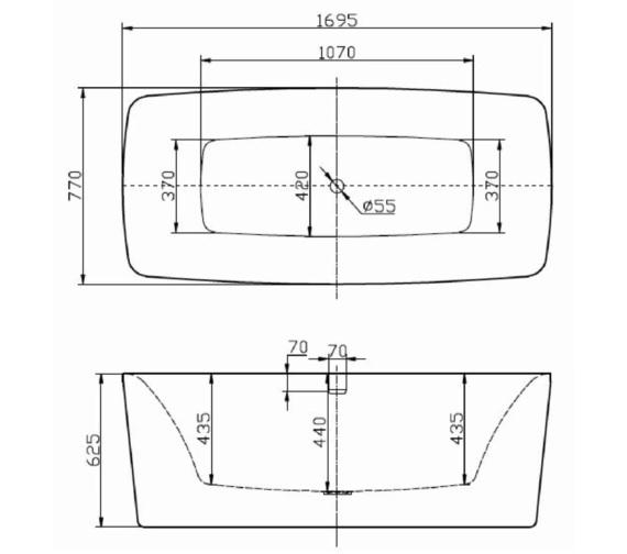 Technical drawing QS-V6523 / RT011