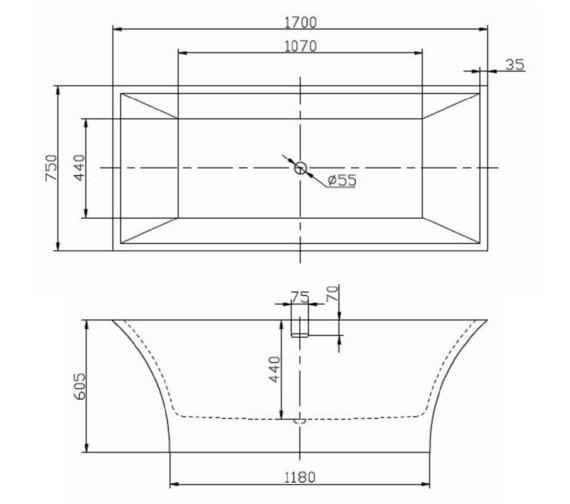 Technical drawing QS-V6524 / RT012