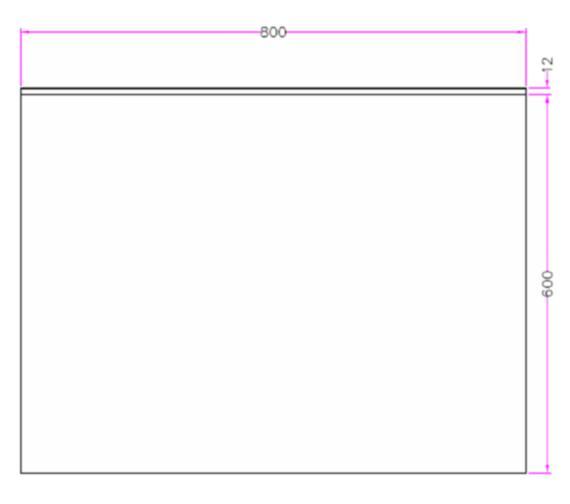 Technical drawing QS-V81424 / MI034