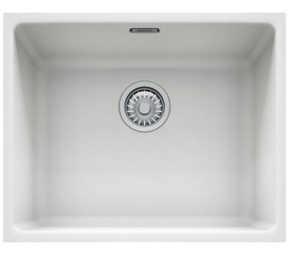 Franke Kubus KBG 110 50 Fragranite 1.0 Bowl Polar White Undermount Sink