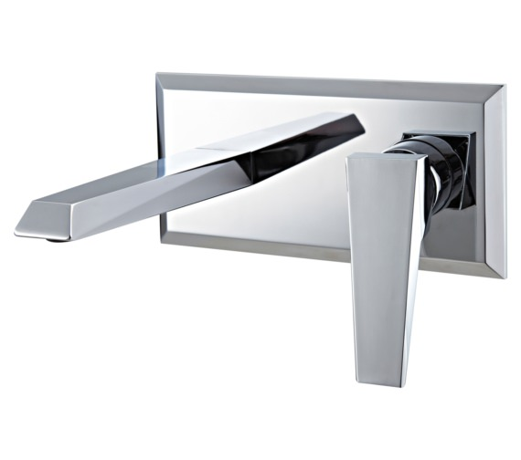 Phoenix Heidi Wall Mounted 2 Hole Single Lever Basin Mixer Tap