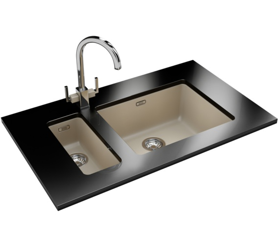 Franke Kubus DP KBG 110 16 + KBG 110 50 Fragranite Coffee Sink And Tap