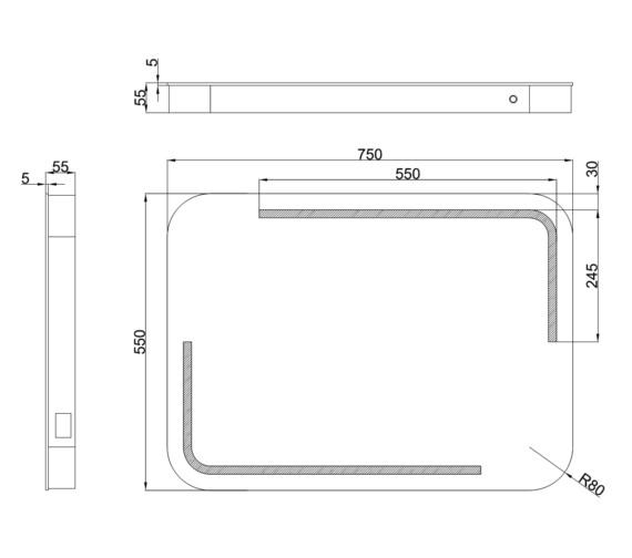 Technical drawing QS-V81434 / MI044