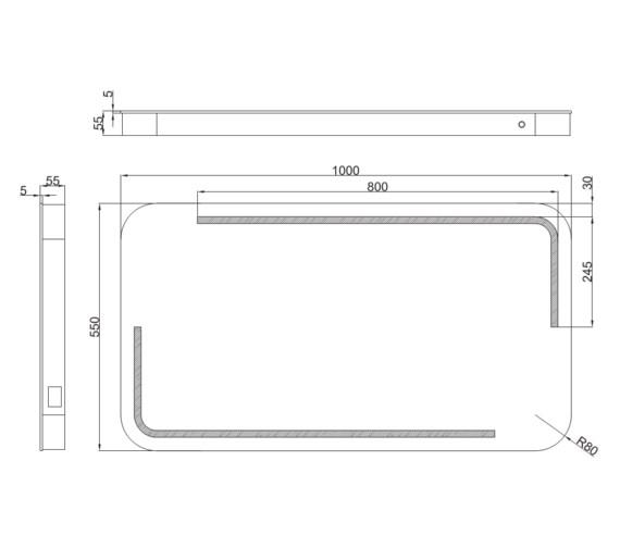 Technical drawing QS-V81435 / MI045