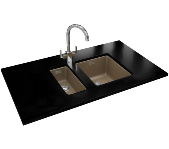 Franke Kubus DP KBG 110 16 + KBG 110 34 Fragranite Oyster Sink And Tap