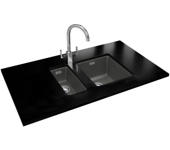 Franke Kubus DP KBG 110 16 + KBG 110 34 Fragranite Stone Grey Sink And Tap