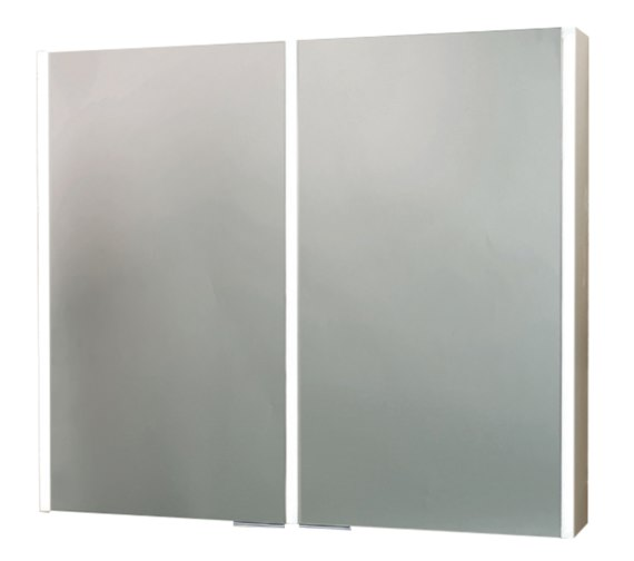 Phoenix Saturn Twin Door Aluminium Mirror Cabinet
