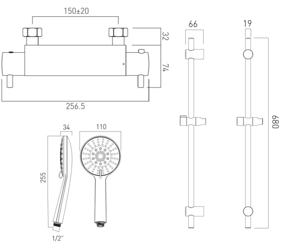 Technical drawing QS-V60830 / CEL-1700-1/2-11-C/P