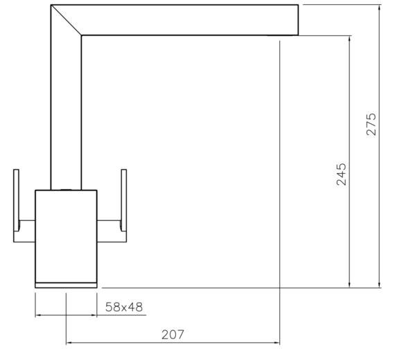 Technical drawing QS-V8608 / AT1195