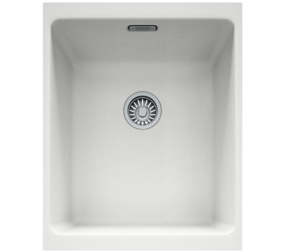 Franke Kubus KBG 110 34 Fragranite 1.0 Bowl Polar White Finish Undermount Sink