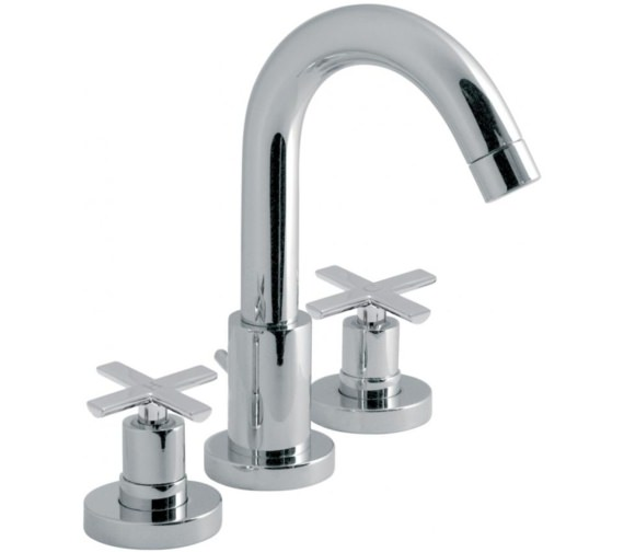 Vado Tonic Deck Mounted 3 Hole Basin Mixer Tap