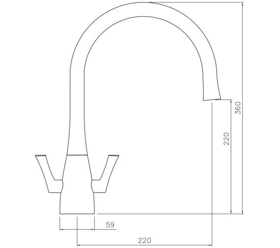 Technical drawing QS-V8610 / AT1170