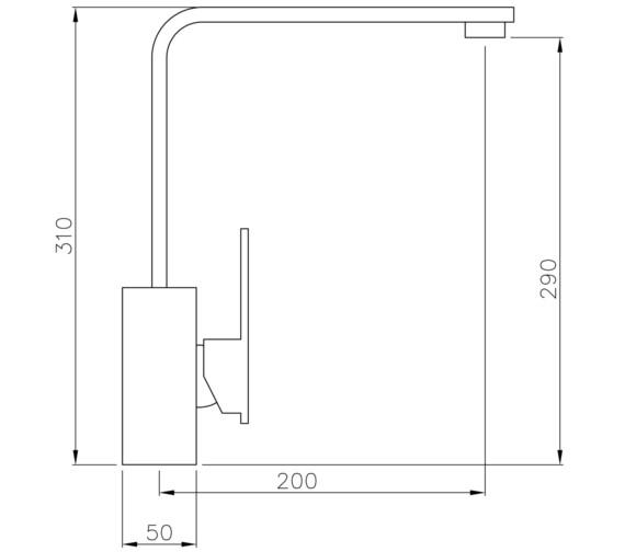 Technical drawing QS-V8611 / AT1181