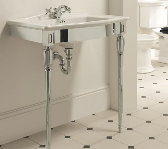 Imperial Troon Chrome Basin Stand And Westminster Vanity Basin