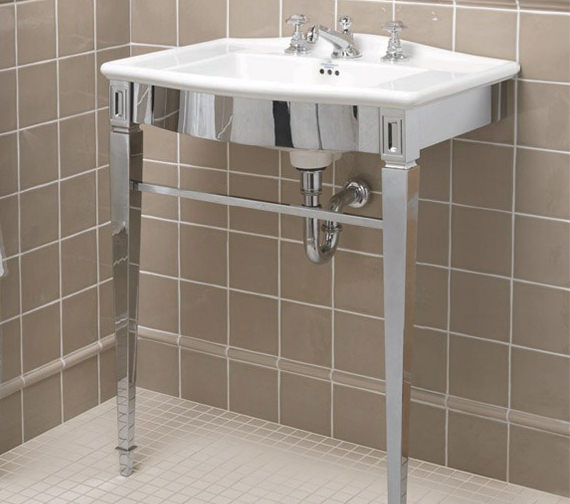 Imperial Adare Chrome Basin Stand And Westminster Vanity Basin 685mm