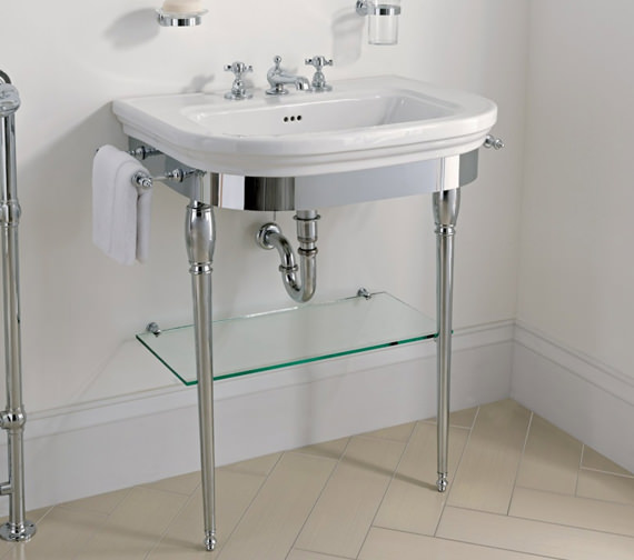 Imperial Carlyon Large Basin Stand With Chrome Legs And Basin 715mm