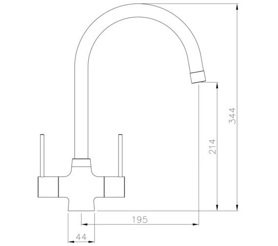 Technical drawing QS-V8631 / AT1223