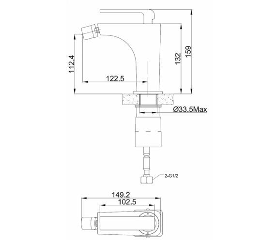 Technical drawing QS-V81449 / XR011