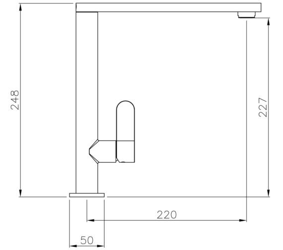 Technical drawing QS-V8615 / AT1188