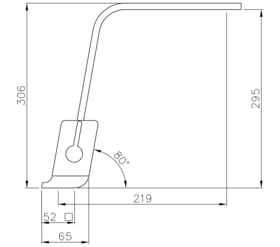 Technical drawing QS-V8616 / AT1190