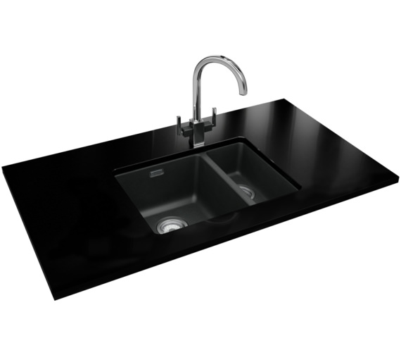 Franke Kubus Designer Pack KBG 160 Fragranite Onyx Sink And Tap