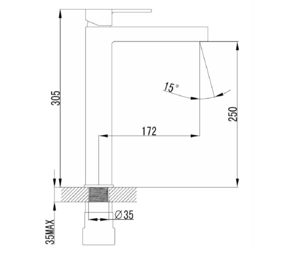 Technical drawing QS-V81439 / FX005