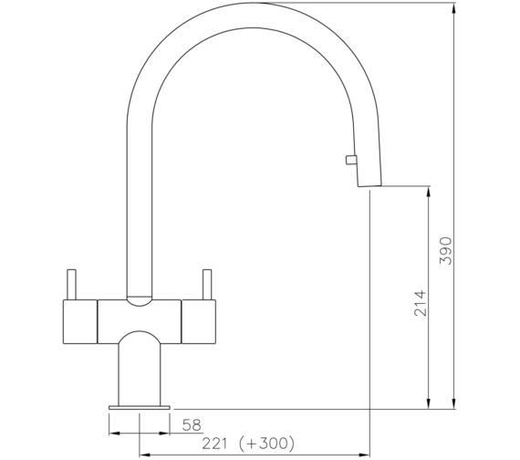 Technical drawing QS-V8617 / AT1205