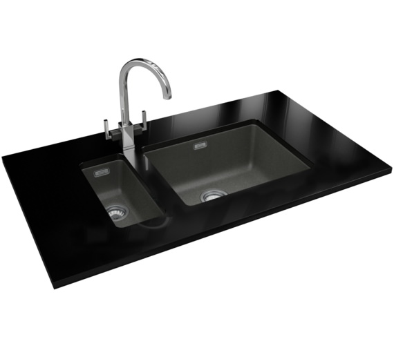Franke Kubus DP KBG 110 16 + KBG 110 50 Fragranite Stone Grey Sink And Tap