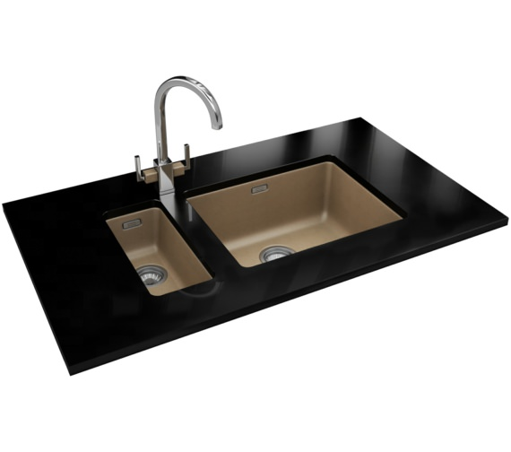 Franke Kubus DP KBG 110 16 + KBG 110 50 Fragranite Oyster Sink And Tap