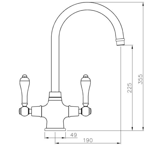 Technical drawing QS-V8624 / AT1216